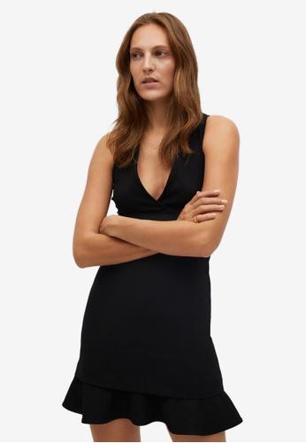 Mango black Fluted Hem Dress 7D577AA92607D4GS_1