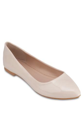 漆zalora 台灣門市面尖頭平底鞋, 女鞋, 芭蕾平底鞋