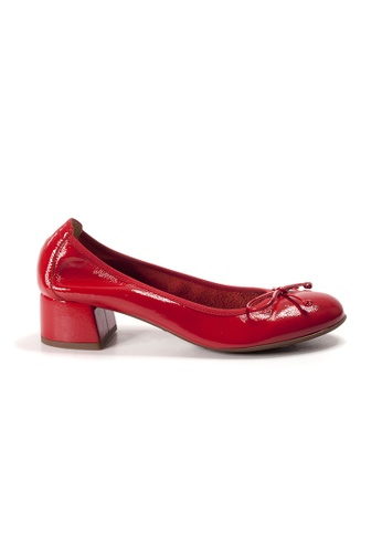 Shu Talk red WONDERS Bow Bow Patent Leather Mid heeled Ballet Pumps D1E67SHD6562EDGS_1