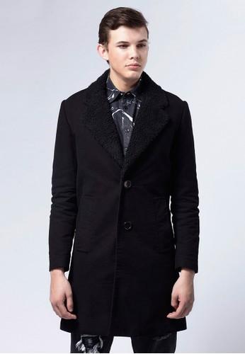 Life8 x Daniel Wong。經典羔esprit 品牌羊毛大衣-03674-黑色, 服飾, 外套