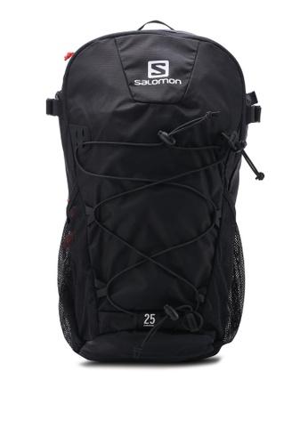 Salomon black Evasion 25 Backpack SA438AC68WFJMY_1