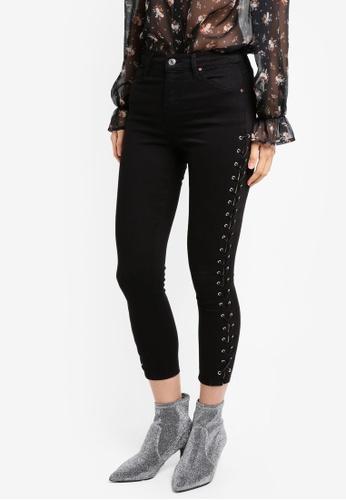 338a863a TOPSHOP black Petite Black Lace Up Jamie Jeans CC921AA9BCC5A2GS_1. CLICK TO  ZOOM