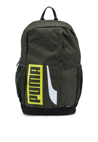 Puma green Plus II Backpack 39CA7AC4274153GS_1
