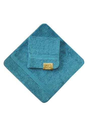 Cotton Fields blue Cotton Fields Face Towel Plain 286E7HL994A52DGS_1