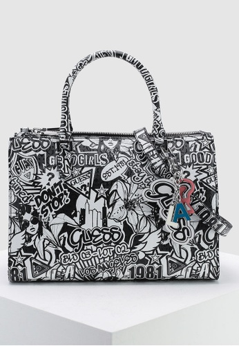 858b69126f Buy Guess Tabbi Status Satchel Bag Online on ZALORA Singapore