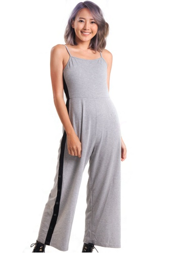 Kitschen grey Side Button Jumpsuit EB596AA00D9449GS_1