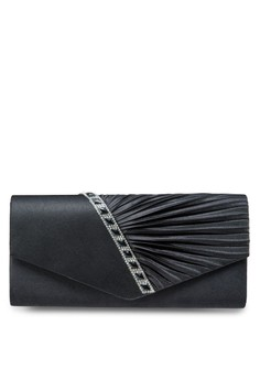Dinner Clutch With Glittering Stones & Crystal Embellishment