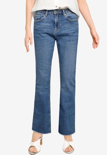 Springfield blue Raw Hem Bootcut Jeans 7B41BAAAD25731GS_1