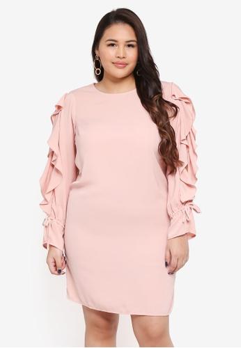 Junarose pink Plus Size Refika LS Above Knee Dress 0F98DAAC1473A4GS_1