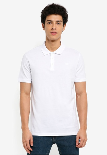 MANGO Man white Slim-Fit Cotton Polo Shirt 43D15AAED5AC08GS_1