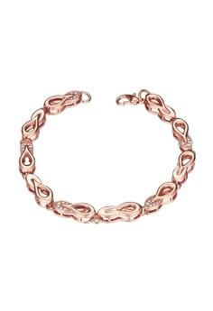 Treasure by B&D B010-B Plated Waterdrop Chain Zircon Bracelet
