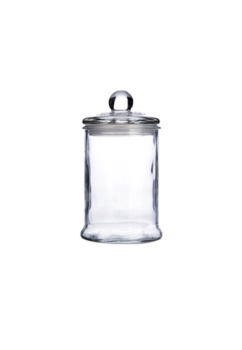 Propstation Heritage Airtight Borosilicate Clear Glass Jar with Lid - 1250ml CA899HL50F07BFGS_1