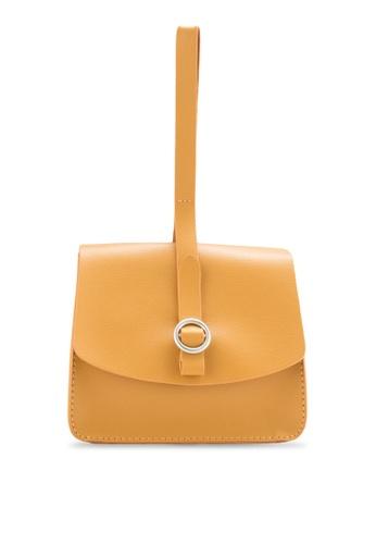 ZALORA yellow Long Strap Wristlet Bag AED68ACC4E9196GS_1