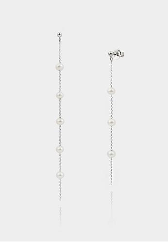 monojewelry PEARL SILVER CHAIN EARRINGS 571A4ACD6F0144GS_1