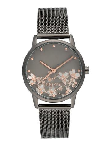 Nine West silver NW2429FLGY0000 Analog Watch 35CA1AC5BE2F66GS_1
