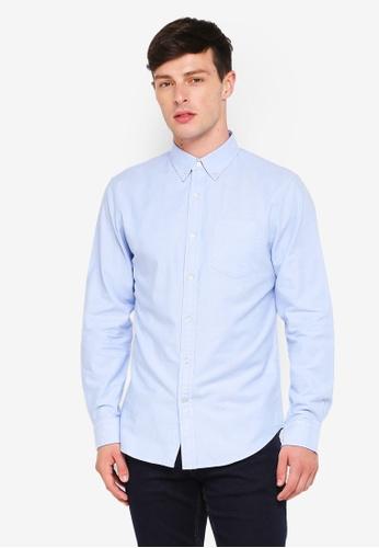 Banana Republic blue Grant Oxford Shirt 9146DAA0D583F4GS_1