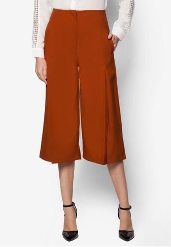 Kylie 前開衩寬管褲, 服飾, 長褲及esprit tw內搭褲