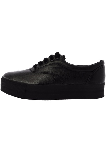 Maxstar CN3 5 Holes Synthetic Leather Platform Canvas Low Top Sneakers US Women Size MA168SH47DYMHK_1