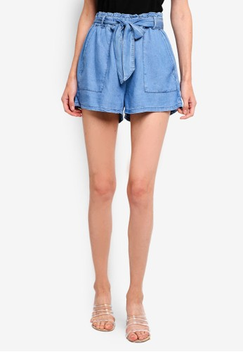 Cotton On blue High Waist Shorts 38F60AA9945BF4GS_1