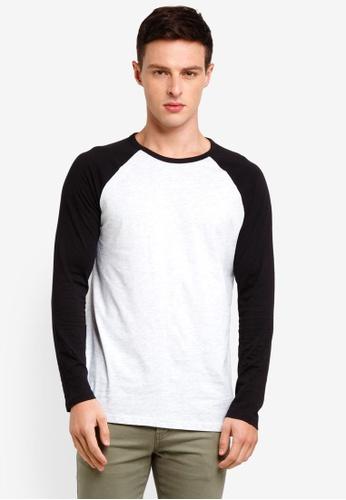 Burton Menswear London 黑色 長袖T恤 E2163AAF9610C7GS_1