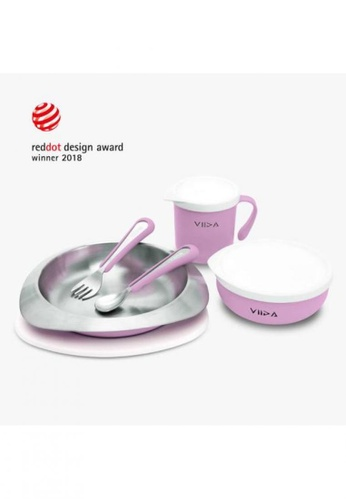 Viida [VIIDA] The Soufflé Kids Antibacterial Stainless Steel Tableware Set, Lavender Purple - 2018 Red Dot Design Winner - Eco-Friendly, Safe, FDA Certified, SGS Tested CD6ECHL9F21F9DGS_1