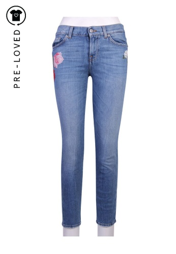 7 For All Mankind blue Pre-Loved 7 for all mankind Floral Embroidered Jean CF2A6AA578B533GS_1