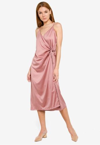LOWRYS FARM pink Wrap Cami Dress 35AF0AA54013F6GS_1