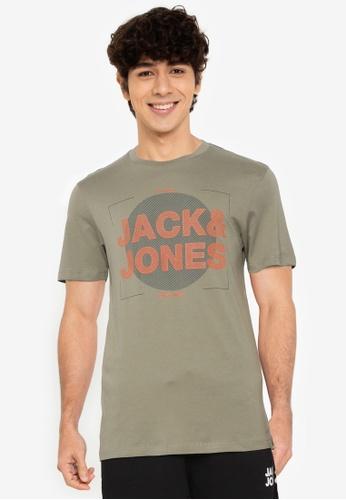 JACK & JONES green Cluster Short Sleeves Tee 473D7AA5F51E5AGS_1