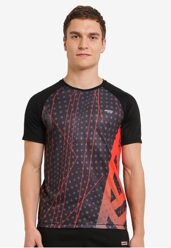 2GO black Running Round Short Half Sleeve T-Shirt 2G729AA0S5ZJMY_1