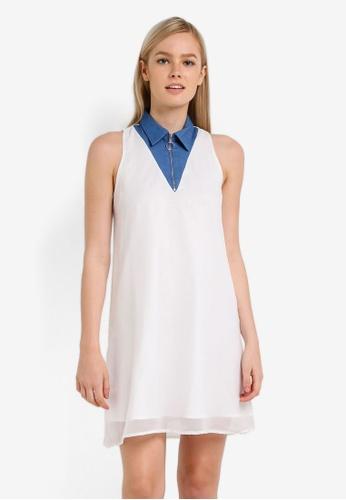 Something Borrowed white Zip Front Swing Dress 589E7AAC1E69EAGS_1