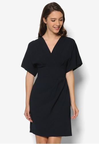 素色zalora 包包 ptt裹飾洋裝, 服飾, 洋裝