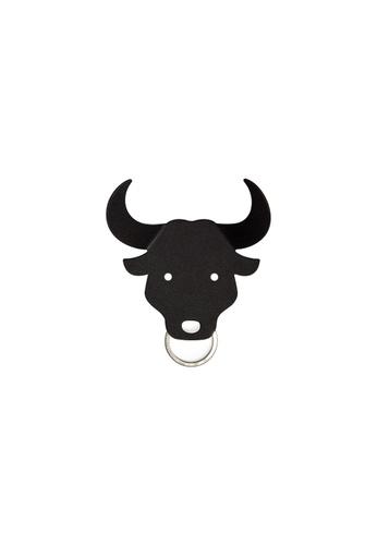Qualy Qualy Bull Key Holder (Black) 7D5DBHL05FA8F2GS_1