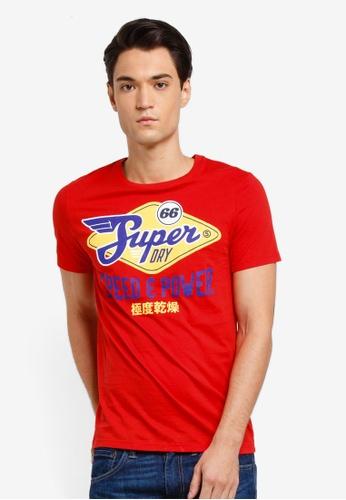 Superdry 紅色 短袖印花T恤 6CE4EAA8D7199CGS_1