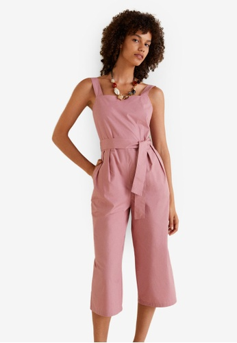 Mango pink Cotton Long Jumpsuit C6FCCAA5659665GS_1