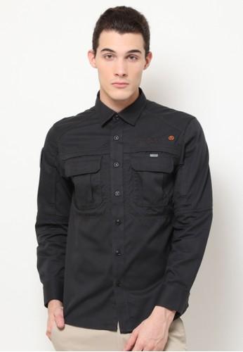 MGEE grey Mgee Casual Shirt 0895EAA33CF058GS_1