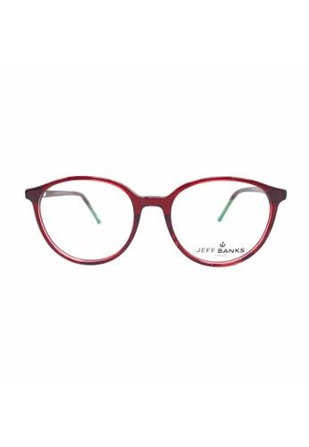 Ibrillen Optical red JEFF BANKS - JB003 Simple & Stylish Glasses Crystal Red 3AECFGL21B8CF1GS_1