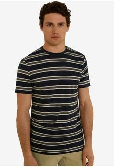 27a08698979 MANGO Man black Striped Linen T-Shirt E0B06AA292FD25GS_1
