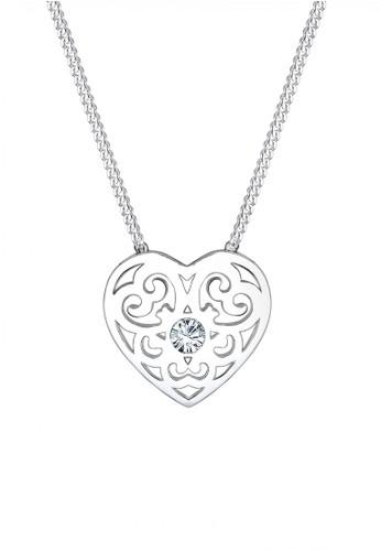 ELLI GERMANY Elli Germany 925 Sterling Silver Kalung Swarovski Crystals Putih Silver