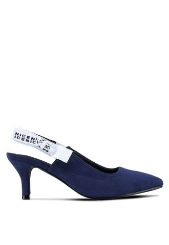 Nose navy Pointed Slingback Heel Pumps 12C90SHD5AEF70GS_1