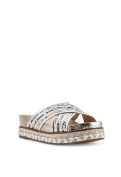 a79b2b1b8025 15% OFF River Island Cross Strap Espadrille Platform Sandals RM 269.00 NOW  RM 228.90 Sizes 4 5 6 7 8
