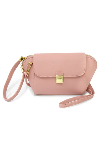 LULUGIFT Lulugift Korean Inspired Design Sweet Signature Sling Clutch LU989AC42FEBMY_1