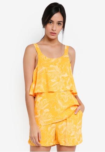 ICHI yellow Damia Top 047D8AA9998D77GS_1