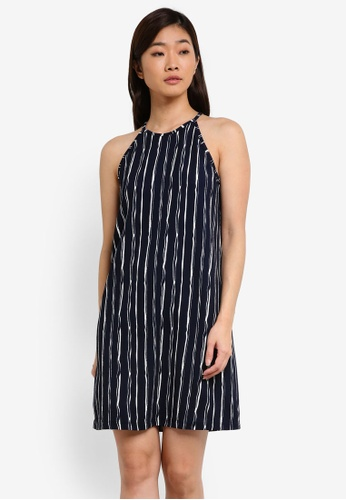 ZALORA navy Essential Loose Halter Dress 76CA3AAE1420E5GS_1