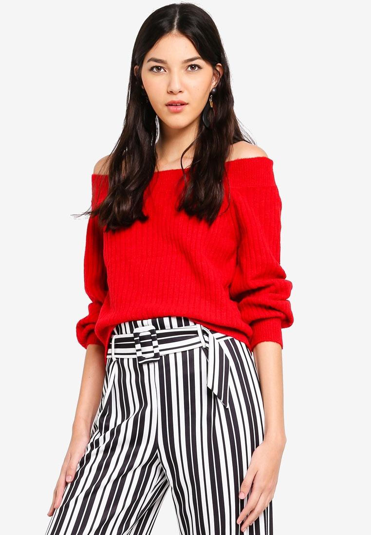 Bardot Petite Chunky Jumper Selfridge Red Miss Knitted Red wqBcpIIg
