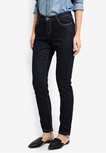 Dorothy Perkins blue Short - Indigo Straight Jeans DO816AA67FCIMY_1