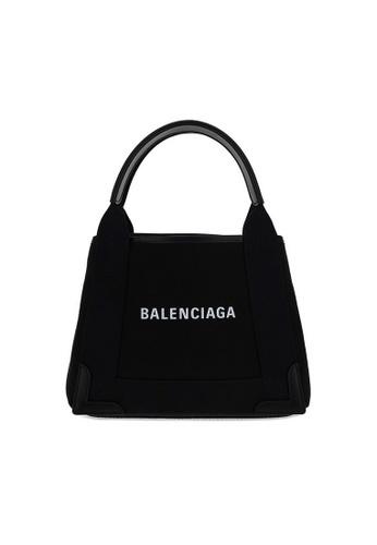 Balenciaga black Balenciaga Navy Cabas XS Shoulder Bag in Black 97279AC317DA00GS_1