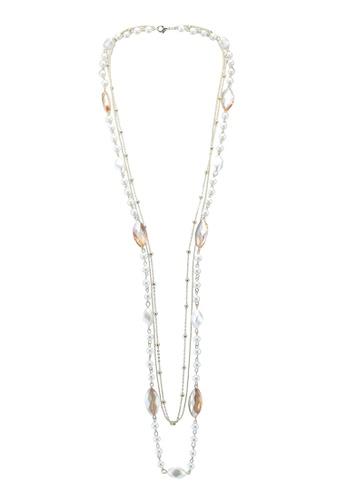 Red's Revenge brown marquis gem long pearl necklace 2E6C1ACC3AF300GS_1