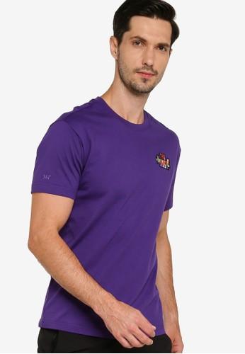361° purple Basketball Series Short Sleeve T-Shirt 53AF7AA8FA3034GS_1