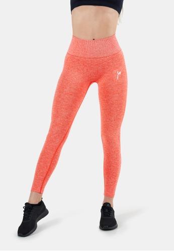 Famme Sportswear orange Famme Sportswear Living Coral Seamless Techna Tights BA2F5AA48CB899GS_1