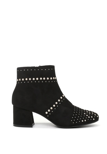 London Rag 黑色 London Rag 女士钉钉装饰脚踝靴 SH1459 87000SHE67004AGS_1
